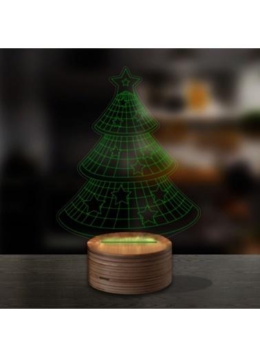 Artikel Çam Ağacı 3D LED Gece Lambası Renkli